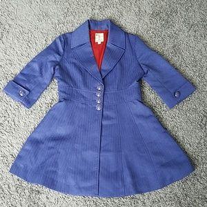 Tulle Gorgeous 3/4 Sleeve Indigo Coat size L